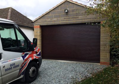 Brown Garage Shutter