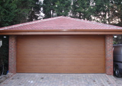 Oak Garage Shutter