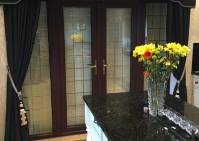 44mm Security Shutter protecting the kitchen patio door.