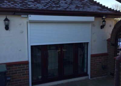 Security Shutter protecting back doors