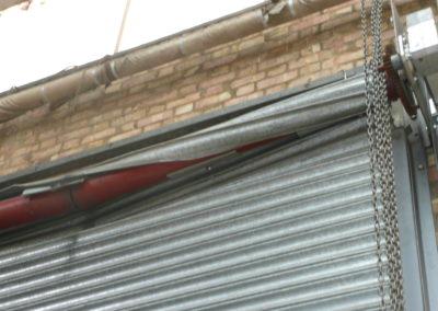 Broken shutter roller.