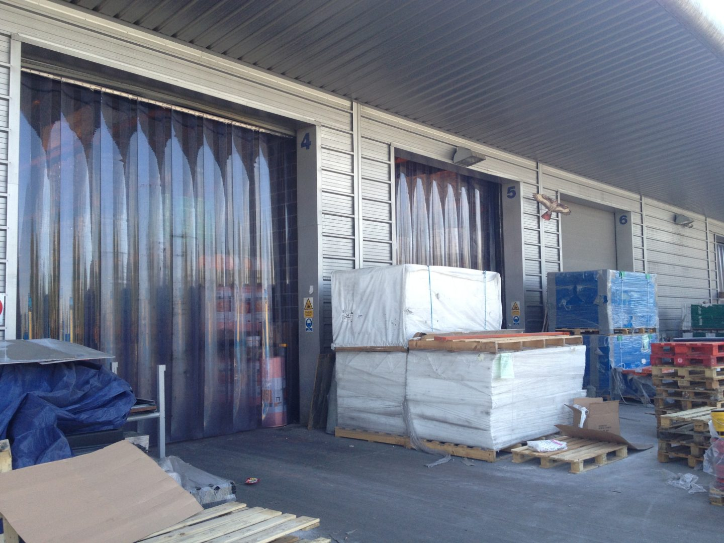 Plastic Strip Curtains Contact Roller Shutters