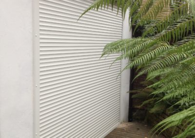 White Home Security Shutter