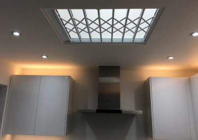 Lattice Gates Kitchen Skylight.