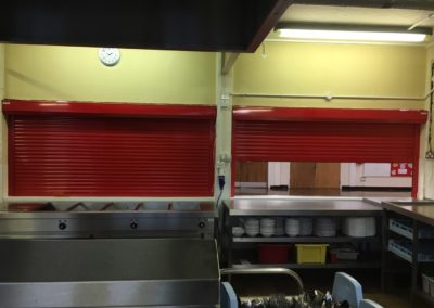 44mm Red Shutters For School Canteen