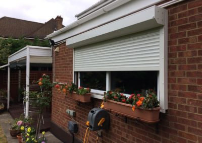 Aluminium Home Shutters for windows in Snaresbrook.