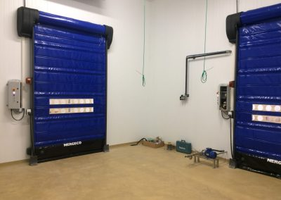 Food factory freezer speed doors fitted in Slough.