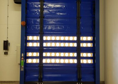 Fast action door fitted at Heathrow Bakery.